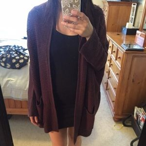 BDG Urban Outfitters Maroon Cardigan XS